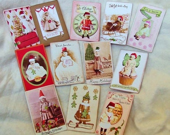 Christmas trading cards-first set