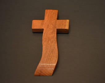 """Wood Cross; Christian Gift; Home Decor; Wood Gifts; Wedding Gift; Sympathy Gift; Mesquite 4""""x7""""x1""""; Free Ground Shipping USA; cc15-3061317"""