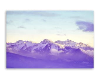 """large canvas wall art, large wall art, large colorful landscape wall art, landscape on canvas, large art on canvas, mountains - """"12 Below"""""""