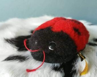 Cute Steiff ladybird! Plush ladybug 1980s collectible