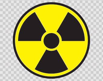 Decals sticker Radioactive Hazard Symbol Store Sports 80040