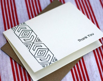 Tribal Notes #8 - A2 Printable Thank You Card (One Design)