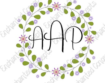Wreath SVG, Wreath Monogram Frames, Twig svg, Tree Branch svg, files for Cricut and Silhouette, svg, eps, dxf, png, cutting plotter files,