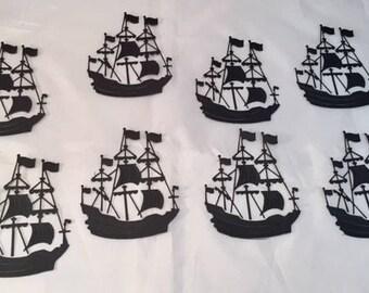 Pirate Ship Die Cuts * Sailing Ship * Eight Pirate Ships * Fun for Kids!