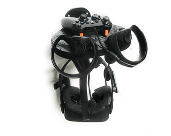 VR Headset and Controller Wall Mount, for Oculus Rift, HTC Vive, and PS Vr