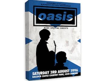 Oasis - Noel, Liam Gallagher, Loch Lomond, Scotland