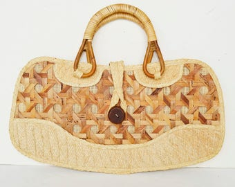Straw bag, straw basket, straw shoulder bag,