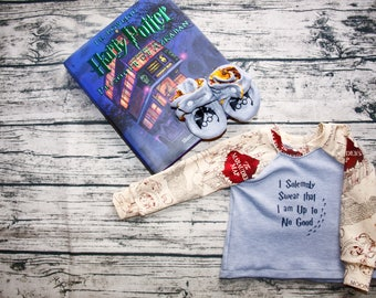 Harry Potter Baby Gift   Harry Potter Shirt  Harry Potter Shoes   Marauder's Map   Harry Potter Gift   Baby Shoes   Baby Shower Gift