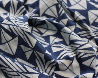 Geometric Print indigo fabric Hand block Print Cotton Fabric womens clothing Fabric By Yard Indigo print causal dresses costumes cotton robe