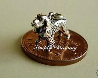 Sterling Silver Spaniel Dog Charm