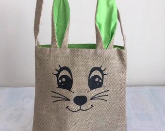 Green Easter Bunny Bag
