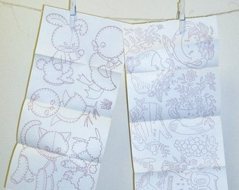 Vintage Embroidery Transfer Sheets |  Baby Animals | Anthropomorphic | Owl