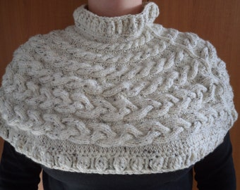 Knitted and Crocheted Capelet Big Size Shoulder Warmer  Neck warmer Ready to ship