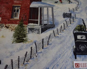 Winter Village from After the Snow Collection by Bob Fair for Wilmington Prints.  Quilt or Craft Fabric, Fabric by the Yard.