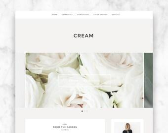 "wordpress theme template ""CREAM"" - responsive premade blog template - modern wordpress theme"