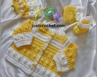Coat, bonnet and booties Baby Crochet Pattern (DOWNLOAD) 72