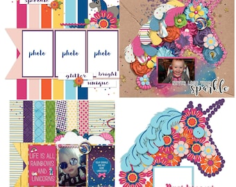 Stay Magical Digital Scrapbooking Templates