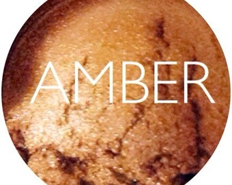Amber Mineral Eyeshadow  •  Vegan & Gluten-Free Mineral Makeup •  Natural Makeup • Earth Mineral Cosmetics