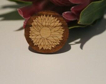 Men's Brooch, Men's Lapel Pin, Wood Lapel Pin, Mens Wood Pin, Mens Accessories, Gift for Him, Australian Pin, Wood Brooch, Australian Native