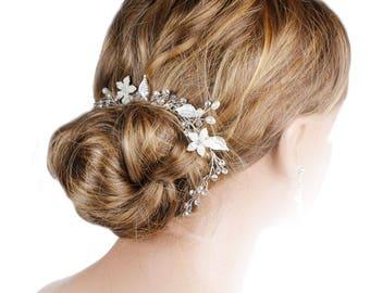 Bridal Hair Vine, Wedding Hair Vine, Hair Jewellery, Bo Ho Hair Vine, Bridal Hair Vine, Woodlands  Hair Vine, Hairvines For Brides, Weddings