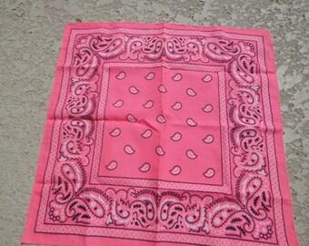 neon pink bandana , polyester bandanna  Biker Rags