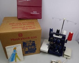 Husqvarna Viking Huskylock 535 Overlock Serger Sewing Machine - Excellent Condition Serviced 2018