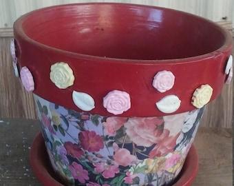 "8"" Rose flower pot"