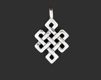 Endless Knot Pendant in Sterling Silver