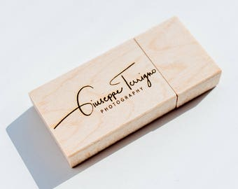 Personalized wooden USB flash drive memory stick Wood USB keys memory size 8gb, 16gb, 32gb, usb stick with custom text laser engraved