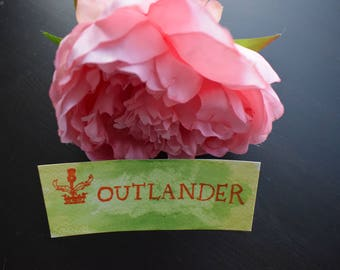 Water colour book mark - Outlander green
