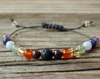 Diffusor, Chakra-Armband, Perlen Diffusor, ätherische Öle, Öl Diffusor, Yoga Armband, Meditation Armband, Heilung