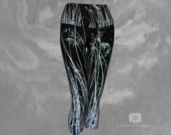 Yoga Capri Leggings Womens Tights Capris Short Tights Athletic Tights Gym Capris Tights Cropped Leggings Capris For Women Nature Print Capri
