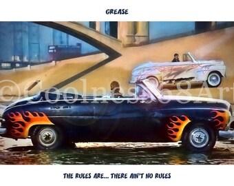 Grease Original Art Print