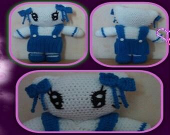 Tutorial for crocheting this schoolgirl cat set