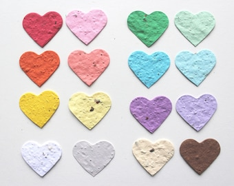 100 Seed Paper Confetti Hearts- Wildflower seeds
