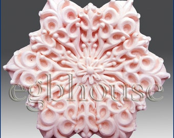 Silicone Soap n Floating Candle Mold  Snowflake 10