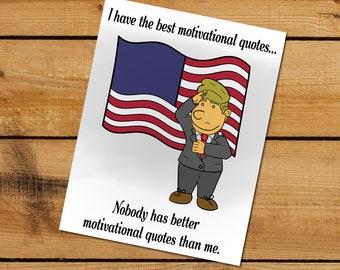 "Trump ""Motivational"" Mini-Poster - Saluting Trump"