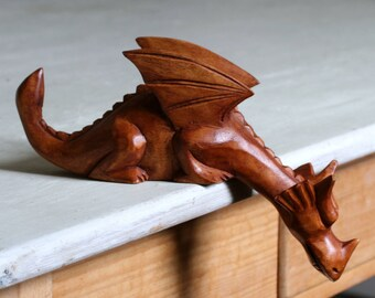 Wooden Dragon.dragon.carved dragon.