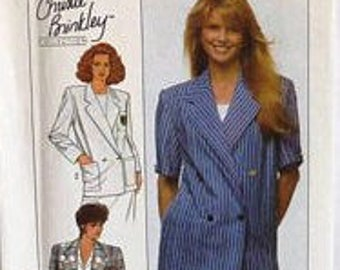 Simplicity 9103, Christie Brinkley Collection, 1980s, Jacket, Double Breasted, Oversized, Shoulder Pads, Sewing Pattern, Out of Print