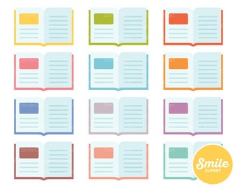 Open Book Clipart Illustration for Commercial Use | 0163