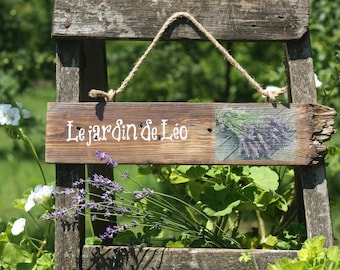 Le Jardin Wood Sign - French Garden - Rustic Garden Sign - Lavender Sign - Garden Decor - Custom Sign - Personalised Wooden Garden Sign