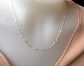 18 Inch Sterling Silver Chain- 1.7mm sterling silver necklace, Sterling Silver, 925, silver chain, DIY, jewelry supply