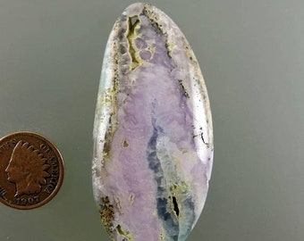 ON SALE Smithsonite Cabochon, Pink Smithsonite Cab, Pink Purple Cab, Designer Smithsonite Cab, Pendant Cab, Gift, C2315, Handcrafted by 49er