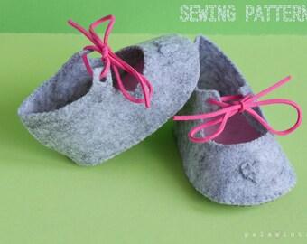 AMAYA Felt Baby Shoe Pattern