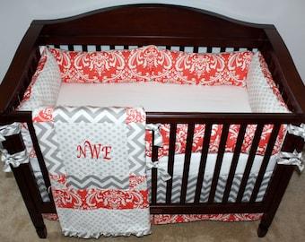 Custom Nursery Bedding Twins with Free Name Pillows