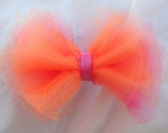 Tulle Hair Bow, Available in MANY Colors w/ Headband