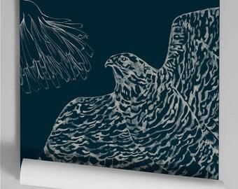 Wallpaper blue duck Kekeko