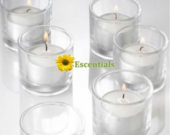 Clear Tealight Candle Holders