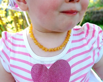 Baby Necklace Amber Teething Necklace Amber Girl Necklace Raw Amber Healing Amber