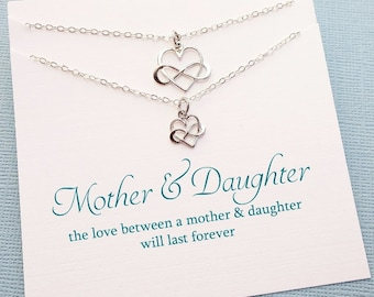 Gifts for Mom | Infinity Necklace Set, Mother Daughter Jewelry Set, Mommy and Me, Mother Daughter Gift Set, Mothers Day, Mom Gift | MD01